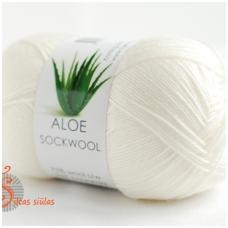 Aloe Sockwool 100 balta