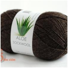 Aloe Sockwool 294 tamsiai ruda
