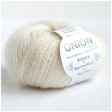 Alpaca + Merino Wool + Nettles 1201 pieno balta