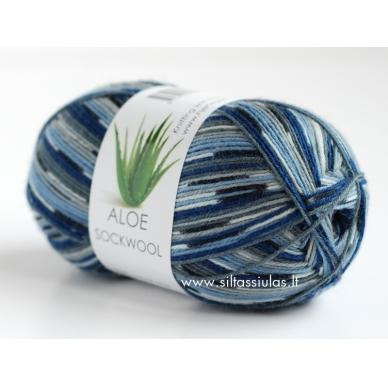 Aloe Sockwool 5010 mėlyna - pilka