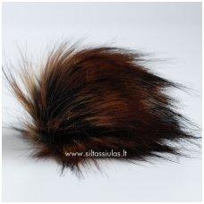 Bumbulas kepurei 24 sodrus tamsiai rudas