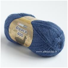 Hjertegarn Alpaca 400 džinsinė mėlyna 2163