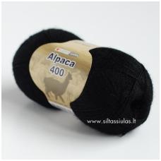 Hjertegarn Alpaca 400 juoda 500