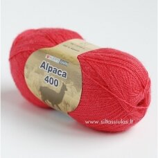 Hjertegarn Alpaca 400 koralinė 3161