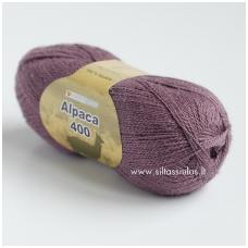 Hjertegarn Alpaca 400 pilkai violetinė 1850