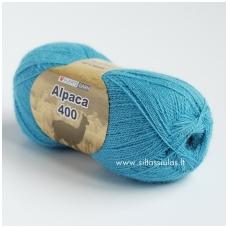 Hjertegarn Alpaca 400 švelni žydra 1106