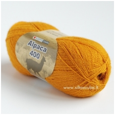 Hjertegarn Alpaca 400 tamsiai geltona 3810