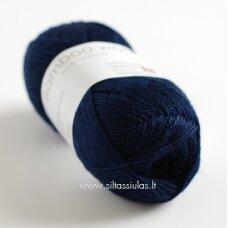Hjertegarn Bamboo Wool 1660 tamsiai mėlyna