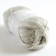 Hjertegarn Bamboo Wool 434 šviesiai pilka