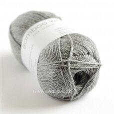 Hjertegarn Bamboo Wool 435 vidutinė pilka