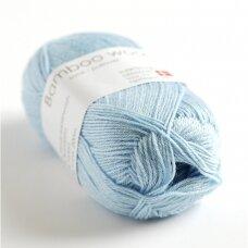 Hjertegarn Bamboo Wool 5105 šviesiai melsva