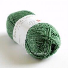Hjertegarn Bamboo Wool 6114 pušies žalia