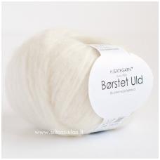Hjertegarn Brushed Wool 100 pieno balta
