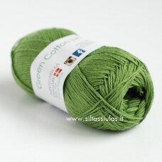 Hjertegarn Green Cotton Linen 130 avokado žalia