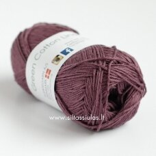 Hjertegarn Green Cotton Linen 1405 slyvų violetinė