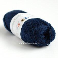 Hjertegarn Green Cotton Linen 4024 tamsiai mėlyna