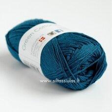 Hjertegarn Green Cotton Linen 4324 elektrinė žaliai mėlyna