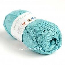 Hjertegarn Green Cotton Linen 4610 vasaros vandens žydra
