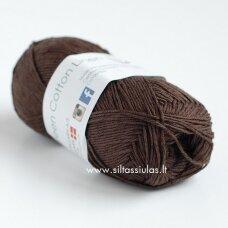 Hjertegarn Green Cotton Linen 712 šokolado ruda