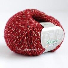 Hjertegarn Sauce 2622 vyšnių raudona