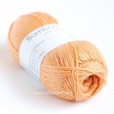 Hjertegarn Bamboo Wool 1231 persikų oranžinė