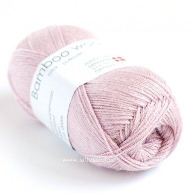 Hjertegarn Bamboo Wool 6995 pudros rausva