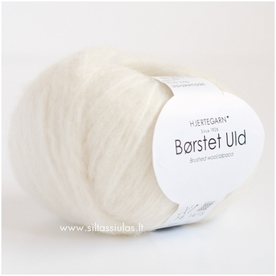 Hjertegarn Brushed Wool 100 pieno balta