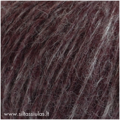 Hjertegarn Brushed Wool 1623 slyvų violetinė 2