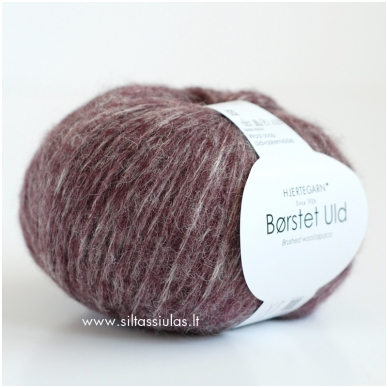 Hjertegarn Brushed Wool 1623 slyvų violetinė