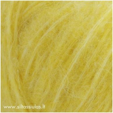 Hjertegarn Brushed Wool 2676 citrinų geltona 2