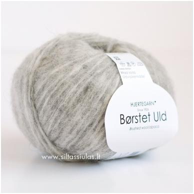 Hjertegarn Brushed Wool 434 šviesiai pilka