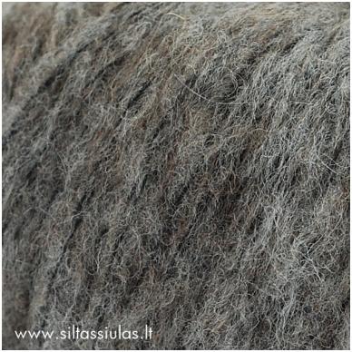 Hjertegarn Brushed Wool 435 vidutinė pilka 2