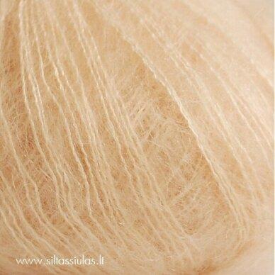 Hjertegarn Silk Kid Mohair 1019 kreminiai nėriniai 2