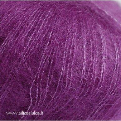 Hjertegarn Silk Kid Mohair 1052 sodri alyvinė 2