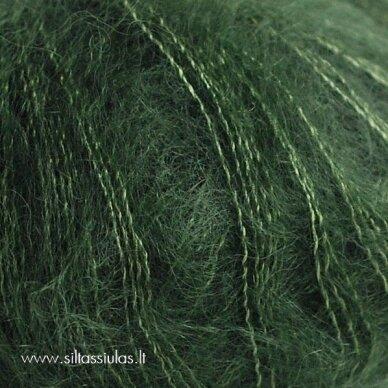 Hjertegarn Silk Kid Mohair 417 miško žalia 2
