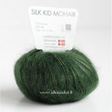 Hjertegarn Silk Kid Mohair 417 miško žalia