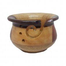 Indas mezgimo siūlams (įvairaus medžio, margas)