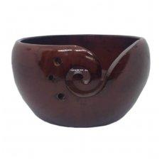 Indas mezgimo siūlams (pušinis, raudonai rudas)