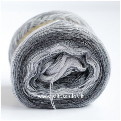 JoJo 3 ply/100 g Degrade Grey 4145 2
