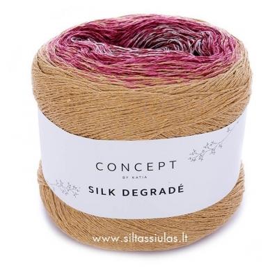 Katia Concept Silk Degrade 301 garstyčios - bordo