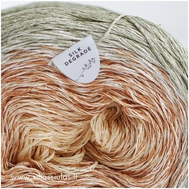 Katia Concept Silk Degrade 302 pilkai žalsva 3