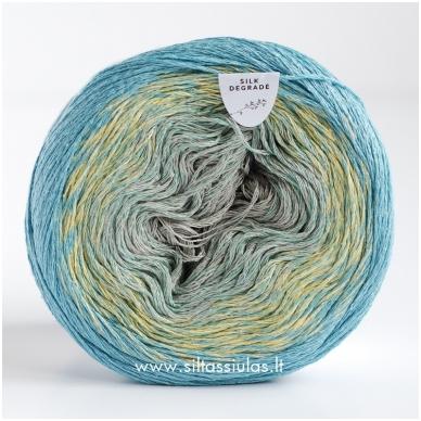 Katia Concept Silk Degrade 304 turkio žydra 2