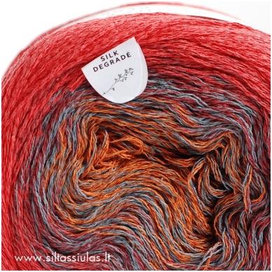 Katia Concept Silk Degrade 306 raudona 3