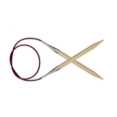 KnitPro Basix Birch virbalai su valu 80 cm/8,00 mm