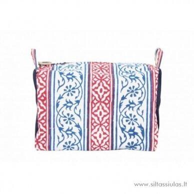 KnitPro dėklas mezgimo mezgimo priemonėms (mėlynas/raudonas)