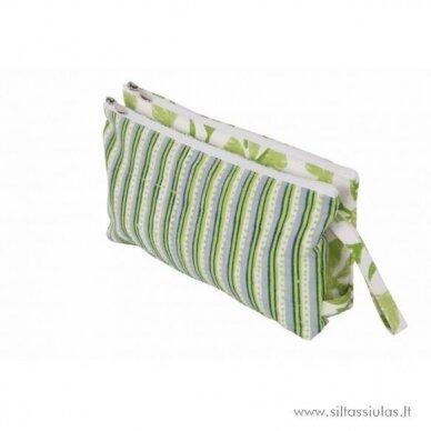 KnitPro dėklas mezgimo priemonėms (dvigubas, žalias)