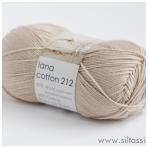 Lana Cotton 212 latte kava 2122 (rusva)