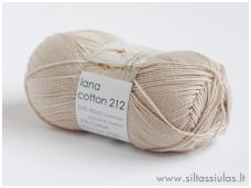 Lana Cotton 212 latte kava 2122 (rusva)