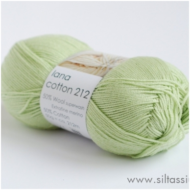 Lana Cotton 212 ryto rasa 7093 (žalsva)