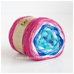 Lola 3 ply/150 g Weiss Himbeere 3668